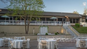 Upper terrace venue for receptions and weddings